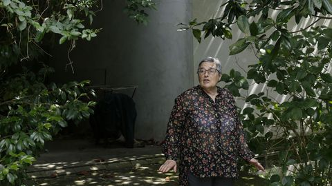 Rosa Garcia Pose, en su casa tras el intento de robo