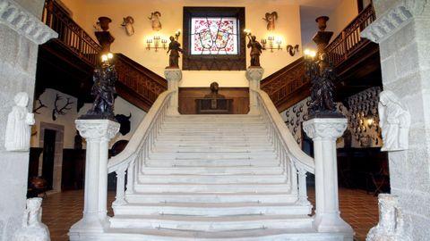 Escalera del acceso principal al pazo de Meirás