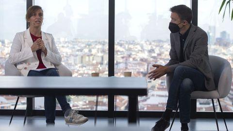 La candidata de Más Madrid, Mónica García, y el líder de Más País, Íñigo Errejón, durante la campaña del 4M
