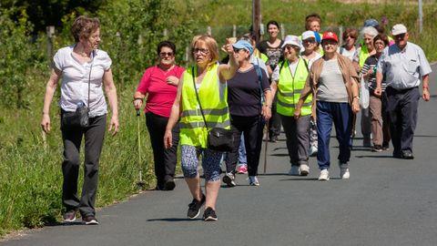 Caminata por la parroquia de Naraío, en la primavera de 2019