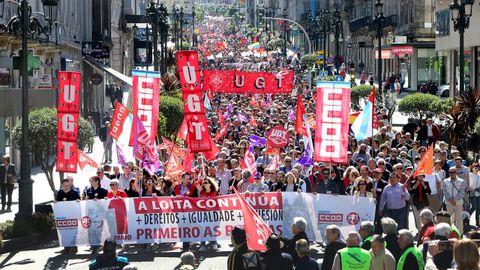 Imagen de archivo de la manifestación del 1 de mayo del año 2019
