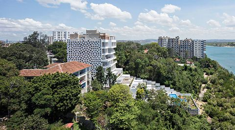 Uno de los proyectos que más emocionan al compostelano es el del edificio Swahili Gem en Mombasa, en Kenia. Arquitectos: Urko Sánchez Architects / Consultores estructuras: Mecanismo