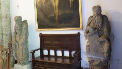 Estatuas del maestro Mateo son alguno de los bienes que están protegidos por las leyes gallegas