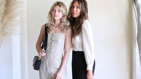 Rachel y su madre Melissa Meyers