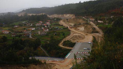 Obras de la A-57 en su tramo entre Vilaboa y A Ermida