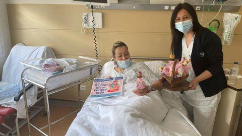 Celebración del Día de la Madre en el hospital de O Barco