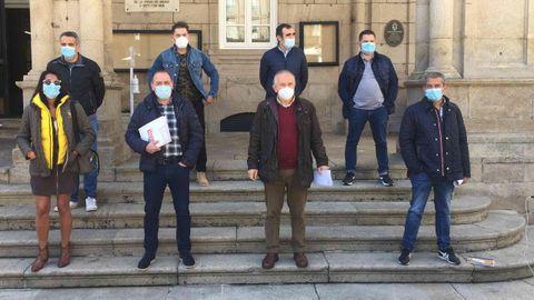 La Junta de Personal del Concello de Ourense da una rueda de prensa contra la política del alcalde de Ourense, Gonzalo Pérez Jácome