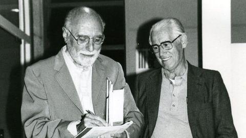 Carlos Velo xunto a Gurriarán