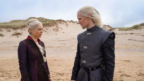 Emma D'Arcy y Matt Smith encarnan a la princesa Rhaenyra y al príncipe heredero Daemon Targaryen