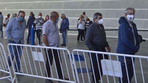 En el recinto ferial de Pontevedra está uno de los dos espacios de vacunación masiva contra el covid del área sanitaria