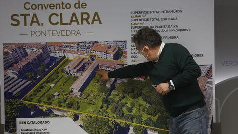 El alcalde de Pontevedra, Miguel Anxo Fernández Lores, anunció la compra del convento de Santa Clara