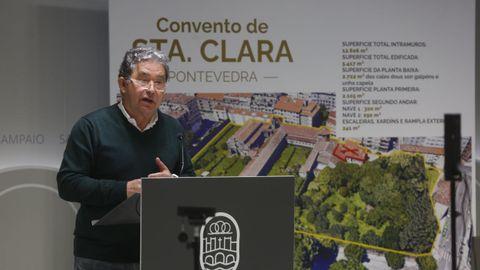 Lores dio a conocer el acuerdo verbal para que el Concello de Pontevedra compre el convento y la huerta de Santa Clara