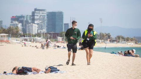 Cataluña presentó un nuevo sistema para controlar el aforo en las playas