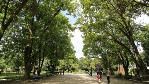 O parque de Rosalía celebra cen anos este mes de xullo