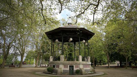 O templete da música é unha das imaxes icónicas do parque de Rosalía