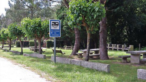 En Boca do Río, Carnota, hay incluso un área de servicio para caravanas