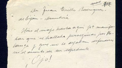La anotación a mano mencionada