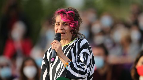 Vanesa Lillo en un acto de campaña electoral.