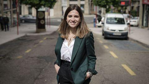 Sara Arias, en las inmediaciones de su despacho