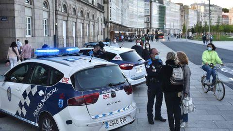 La policía local en A Coruña