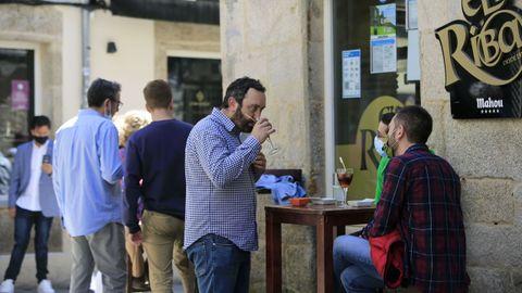 Ambiente en las calles de Lugo este sábado
