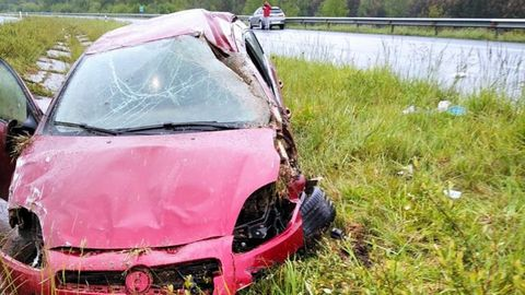 El accidente se produjo en el kilómetro 546 de la A-6, en Aranga