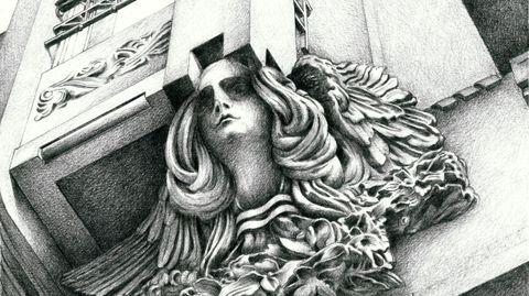 Arquitecturas debuxadas, muestra de Santiago Catalán sobre Compostela