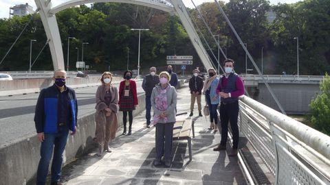 El PP de Lugo pide limpieza e inspección del puente blanco
