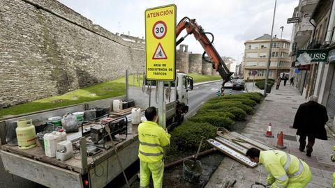 Desde el 2017 la Ronda da Muralla de Lugo tiene limitación a 30 por hora