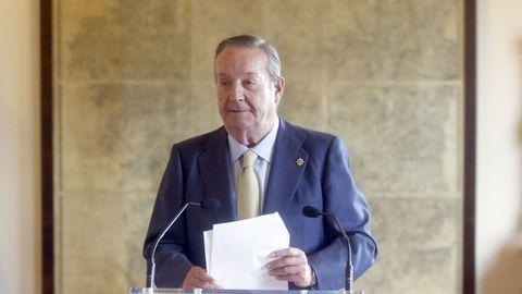 Santiago Rey Fernández-Latorre, pronunciando su discurso