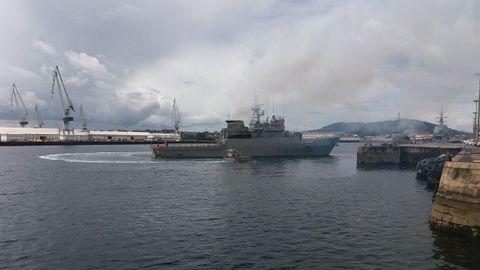 La dotación del Centinela, construido en Navantia Ferrol y entregado a la Armada en 1991, la forman 45 militares