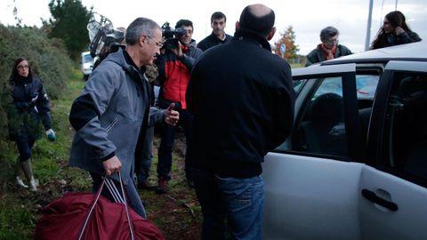 Salida de la prisión de Teixeiro de Domingo Troitiño, en el 2013
