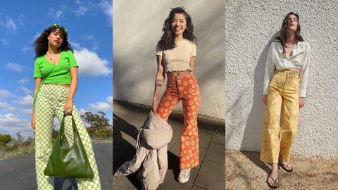 Pantalones estampados de Holiday The Label, Free People y Zara