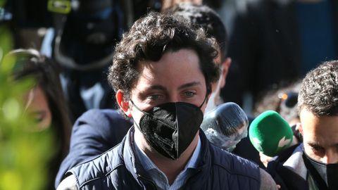 El Pequeño Nicolás, a su llegada a la Audiencia Provincial de Madrid