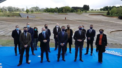 Feijoo, Bugallo y otras personalidades en la reinauguración del complejo