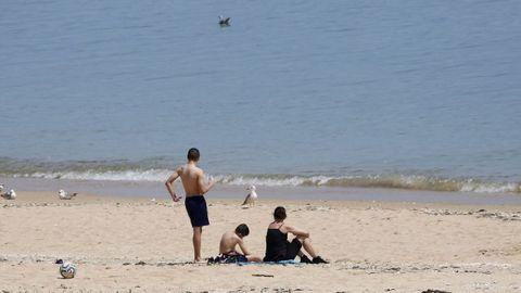 La playa de Coroso es la única de Barbanza que lucirá la bandera azul el próximo verano