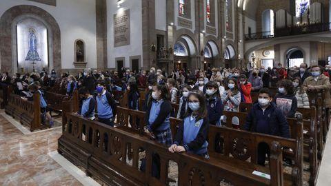 La misa preparada por los niños de catequesis de este martes