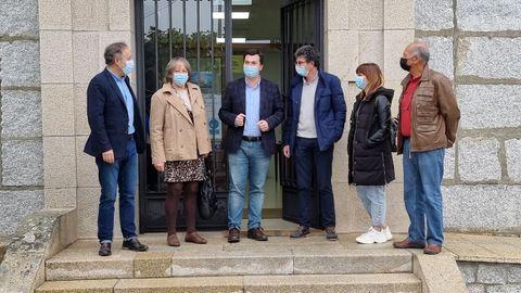 Gonzalo Caballero, secretario del PSdG-PSOE, visitó el Concello de Taboadela, que tiene alcalde socialista después de más de cuatro décadas de gobierno de la derecha