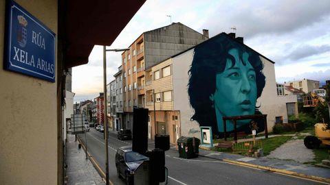 O rostro de Sarria. Unha rúa leva agora o seu nome, preto desta fachada que a loce a gran tamaño