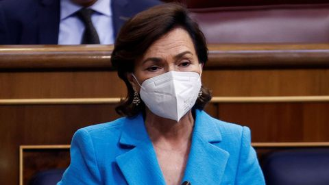 Carmen Calvo, en el Congreso