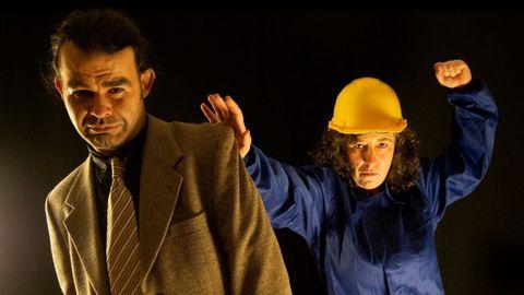 Os actores Pedro Insua e Raquel López Cendán representan a peza «O mundo de Martiña»