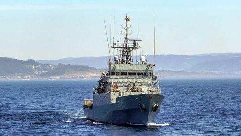Imagen de archivo de un buque de la Armada