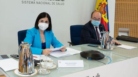 Darias e Iceta en la reunión del Consejo Interterritorial del Sistema Nacional de Salud