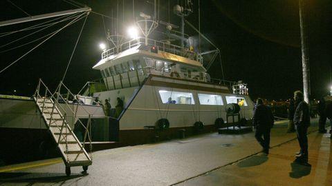 Imagen de archivo del Currana Un, el volantero de Gran Sol con base en Celeiro cuya tripulación está siendo vacunada este jueves en el Hospital da Mariña, en Burela