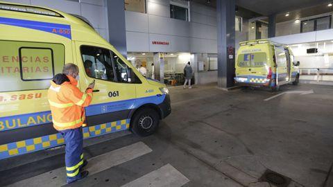 Acceso principal al servicio de Urgencias del Hospital Universitario A Coruña (Chuac)