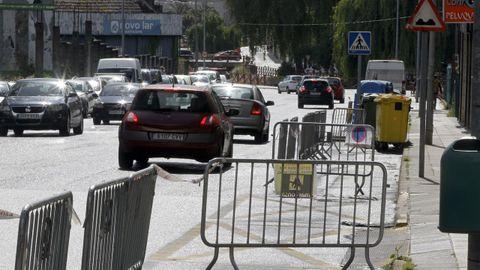 La primera de las ciclovías se construye en la avenida Rodrigo de Mendoza