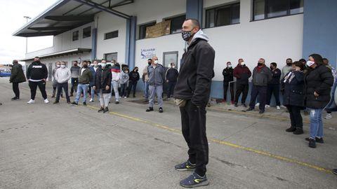 La protesta de pescadores y mariscadores en el puerto de Ferrol