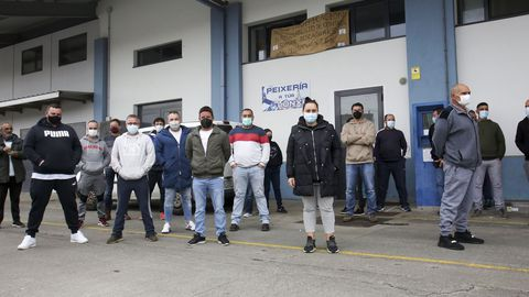 Otro momento de la protesta en Ferrol