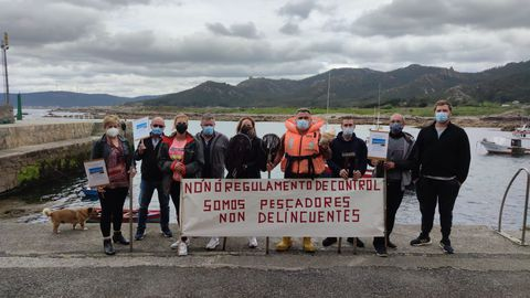 La protesta en el puerto de Camelle