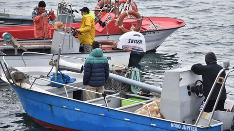 La protesta en el puerto de A Coruña